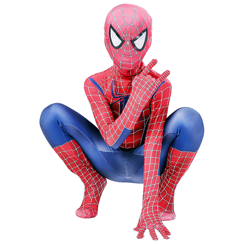 Kids Spiderman Costume Boys Spiderman Cosplay Costumes The Amazing Spiderman Cosplay Suit Halloween Costume For Kids Jumpsuit