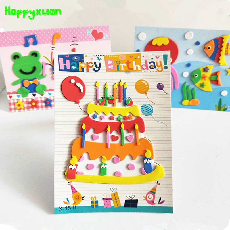 цена Happyxuan 20 Pictures 2018 New Eva Foam Sticker Kids DIY Art Craft Handicrafts Materials Preschool Education Puzzle Toy