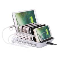 6 Ports USB Phone Charger Fast Charging Station Dock for iPhone Samsung Xiaomi USB Phone Charger