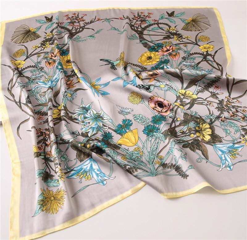 Women Fashion 70 X 70 cm Square Satin Silk   Scarf     Scarves   Head   Wrap   Shawl