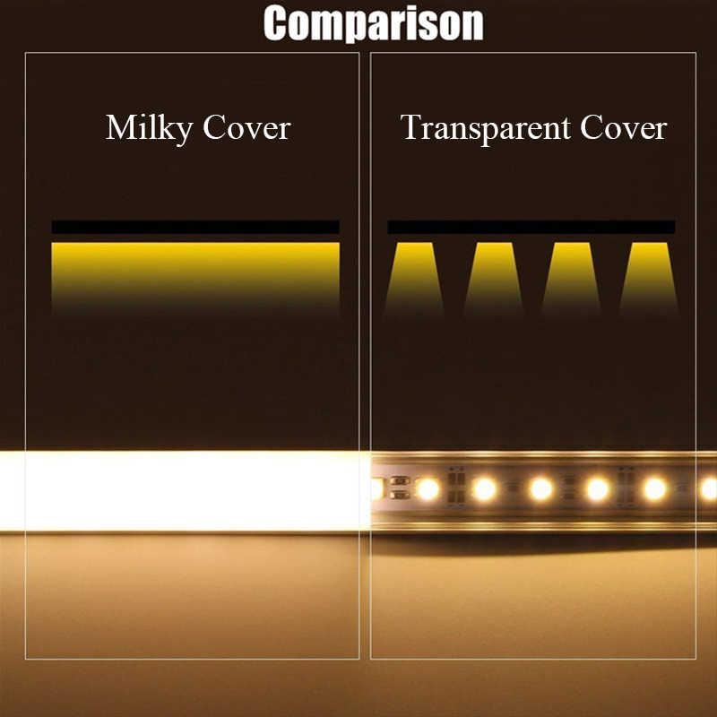 Горячая продажа 30 см/50 см молочный/прозрачный чехол Алюминиевая СВЕТОДИОДНАЯ подсветка Свет профиль для светодиодной ленты крышка для светодиодной ленты свет