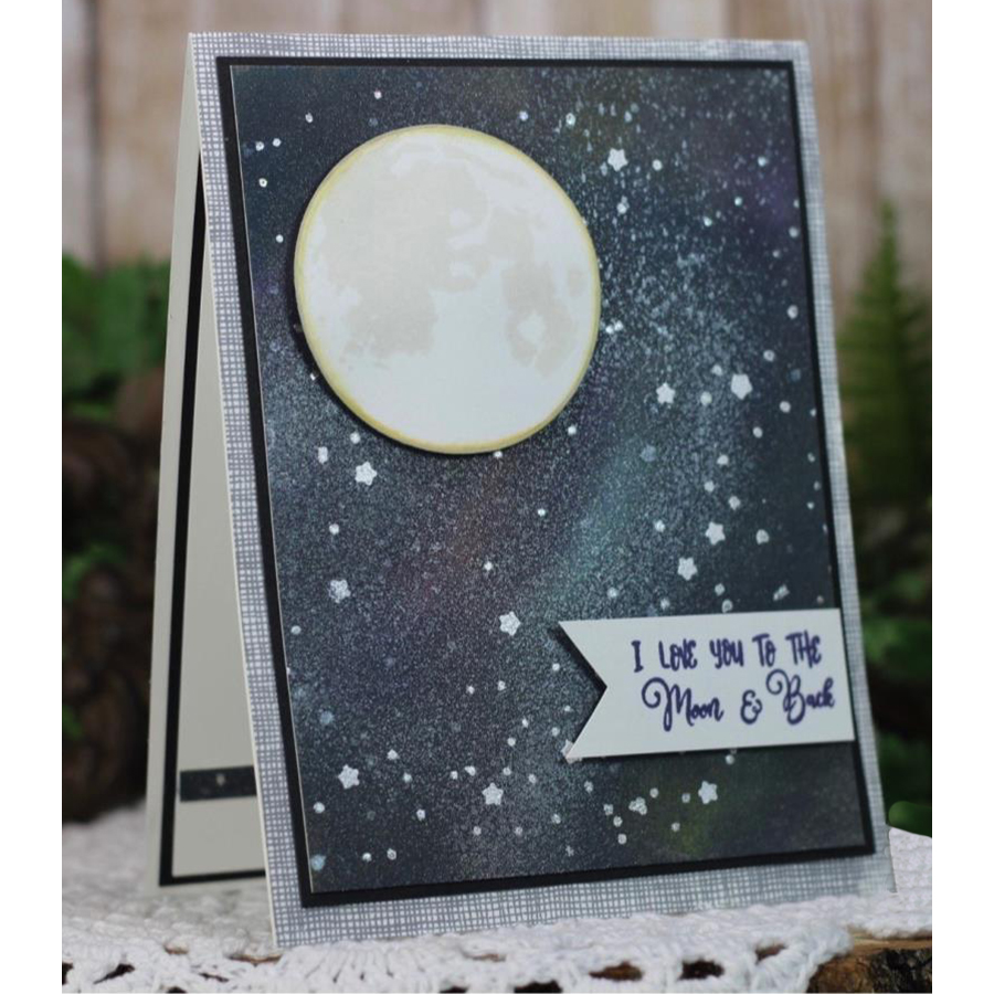 Moon Transparent Clear Silicone Stamp Seal for DIY scrapbooking photo album Decorative clear stamp in Stamps from Home Garden