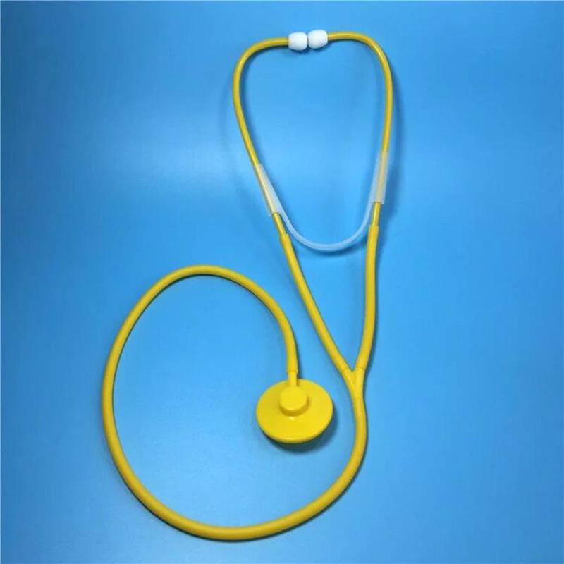 Kids Puzzle DIY Science Stethoscope Popularization Toy Children Simulation Stethoscopes Doctor Plastic ABS Assemble Toys Gifts