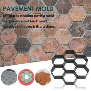 Image 4 - Manually Paving Cement Brick Concrete Molds DIY Plastic Path Maker Mold Garden Stone Road Mold Garden Decoration