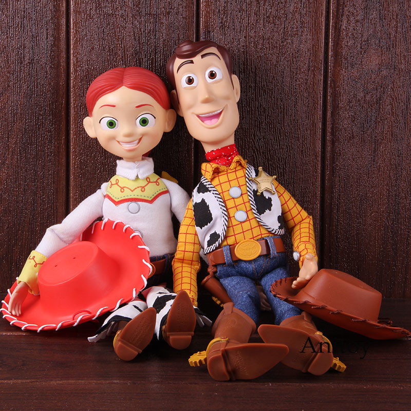 Action Figure 1995 2015 Sherif Woody Jessie Woody Toy Story Talking Movie Figurine Collectible Model Toy