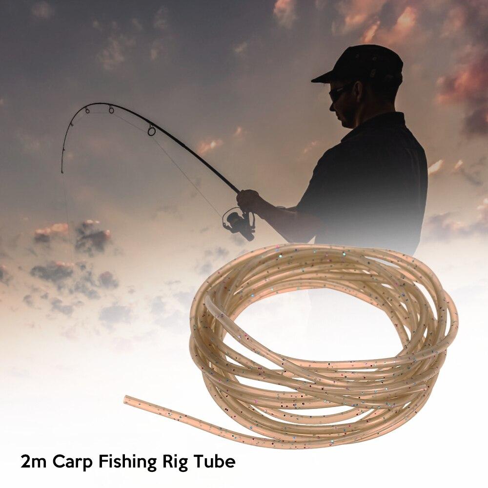 2m Rig Tube Carp Fishing Silicone Rig Sleeves Soft Carp Rig Tube Pretend Fishing Line For Carp Fishing Tackles Accessories Tool(China)