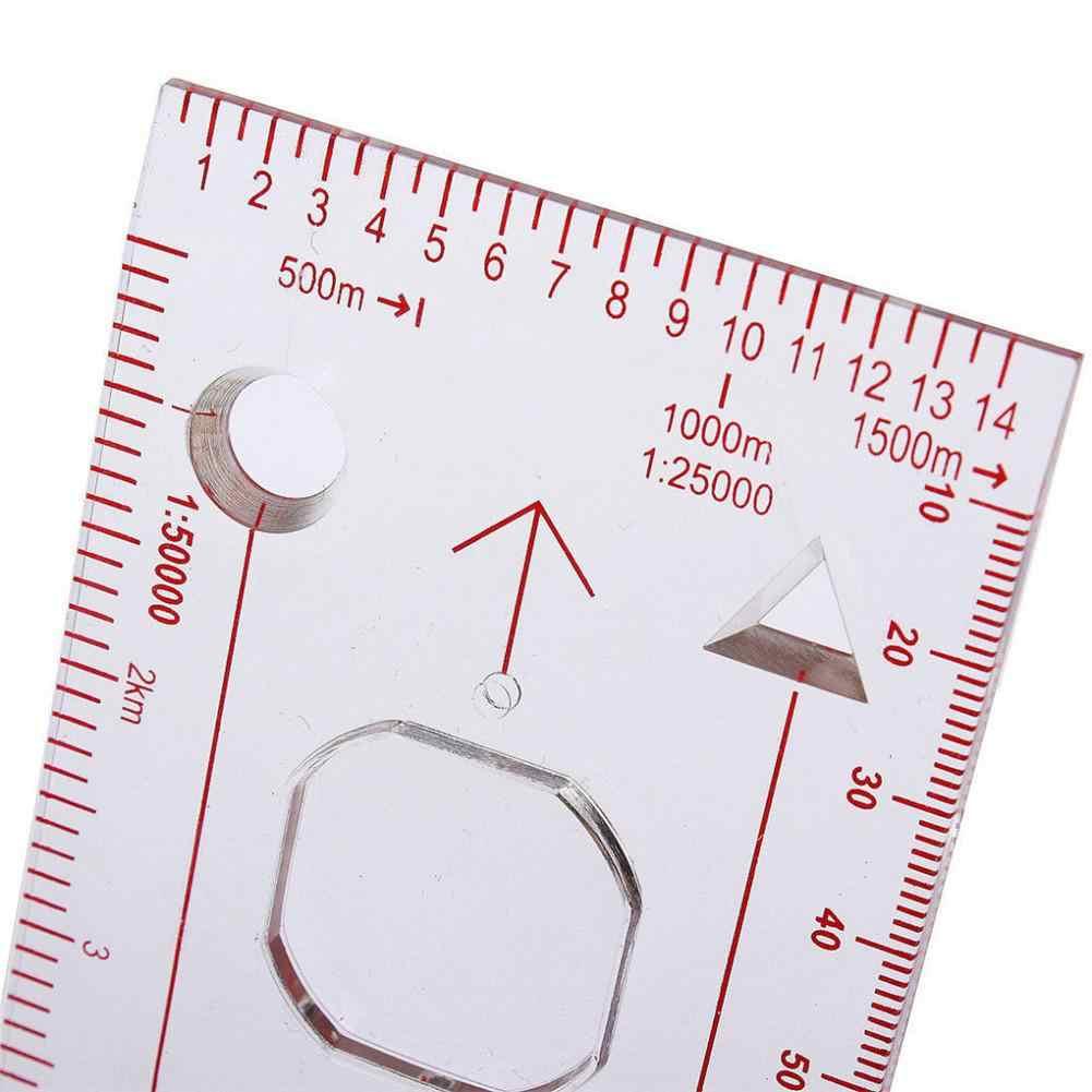 وحدة التحكم المحمولة على شكل بوصلة مكبرة احترافية على مقياس الكشافة والتنزه والتخييم وركوب القوارب