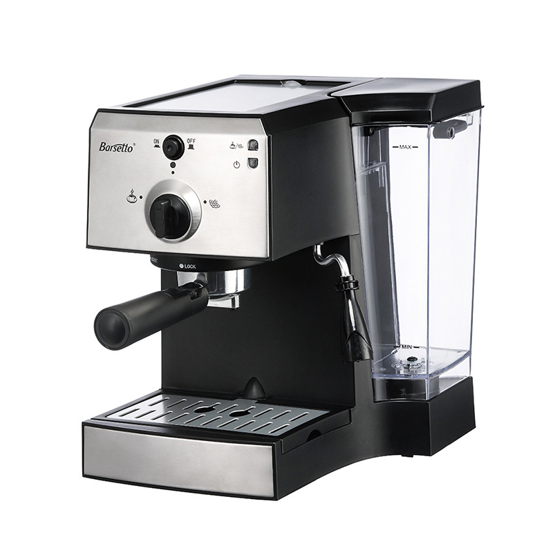 BARSETTO muti-function Coffee Machine Espresso and Milk Foam 15Bar Pump Pressure Coffee Maker-EU Plug md2007 muti function full automatic italy type espresso cappuccino coffee maker machine with high pressure steam for home use