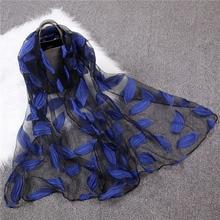 2018 New Women's Silk scarf Ladies Summer Spring Shawls and Wraps Soft Echarpe Bandana Female Hijab Scarves Foulard Beach Stoles
