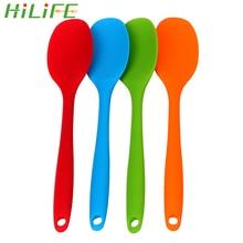 HILIFE посуда с длинной ручкой кухонные суповые ложки силиконовая ложка для торта шпатлевка лопатка для перемешивания ложка кухонные инструменты