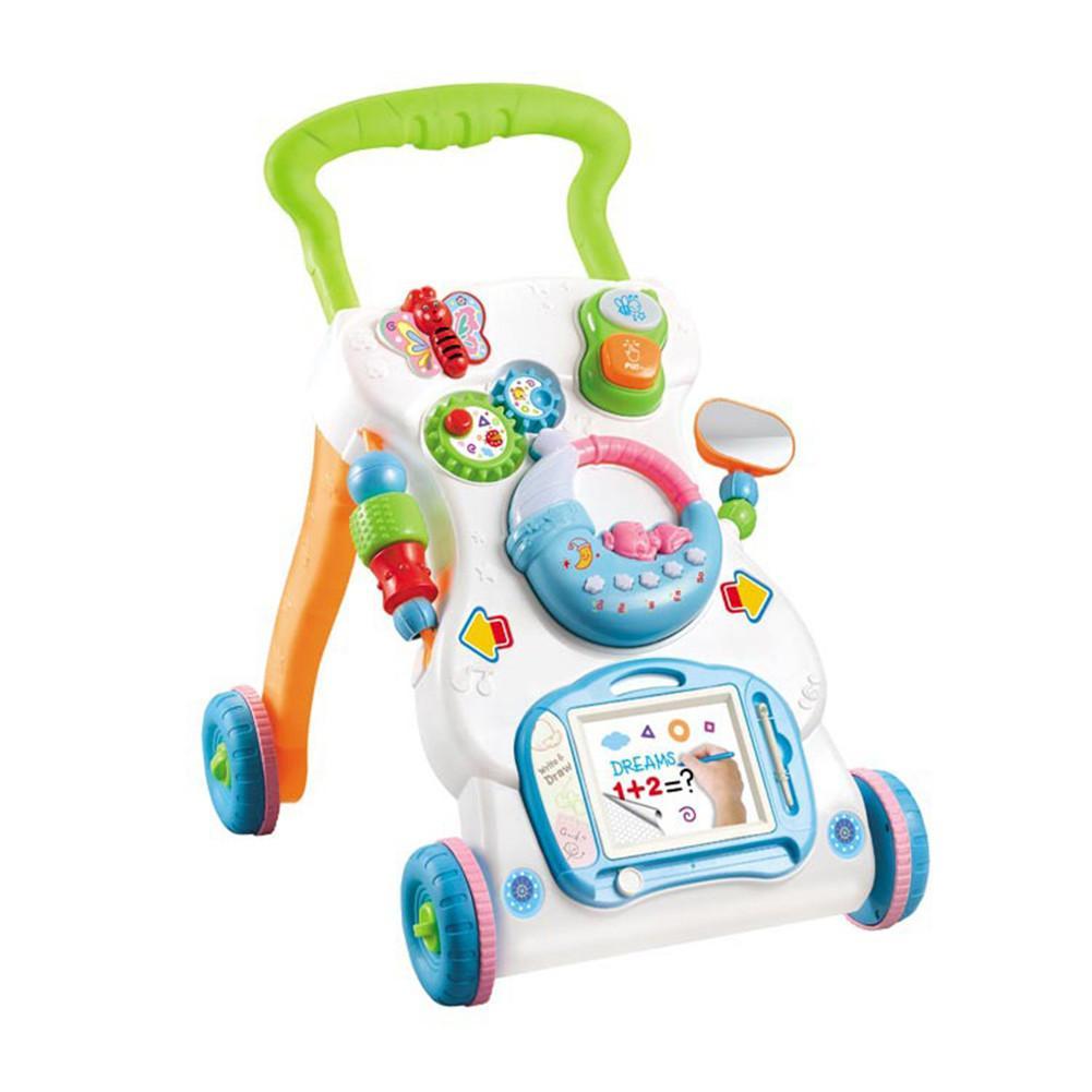 Del Bambino Del Camminatore Musica Walking Assistant Bambino Multifunzionale Trolley Sit-a-stand Camminatore Per Bambini Di Apprendimento Precoce Di Sviluppo