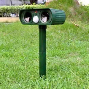 Image 5 - Répulsif solaire ultrasonique, 2 pièces, répulsif pour animaux de plein air, répulsif pour chien/chat/oiseau/taupe, PIR, renards, fournitures de jardin