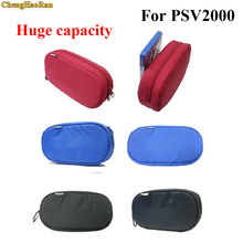 лучшая цена ChengHaoRan 6pcs/lot Large Capacity Soft Travel Protective Case For PSV 1000 PSV2000 Protective Pouch Bag for PS VITA 1000 2000