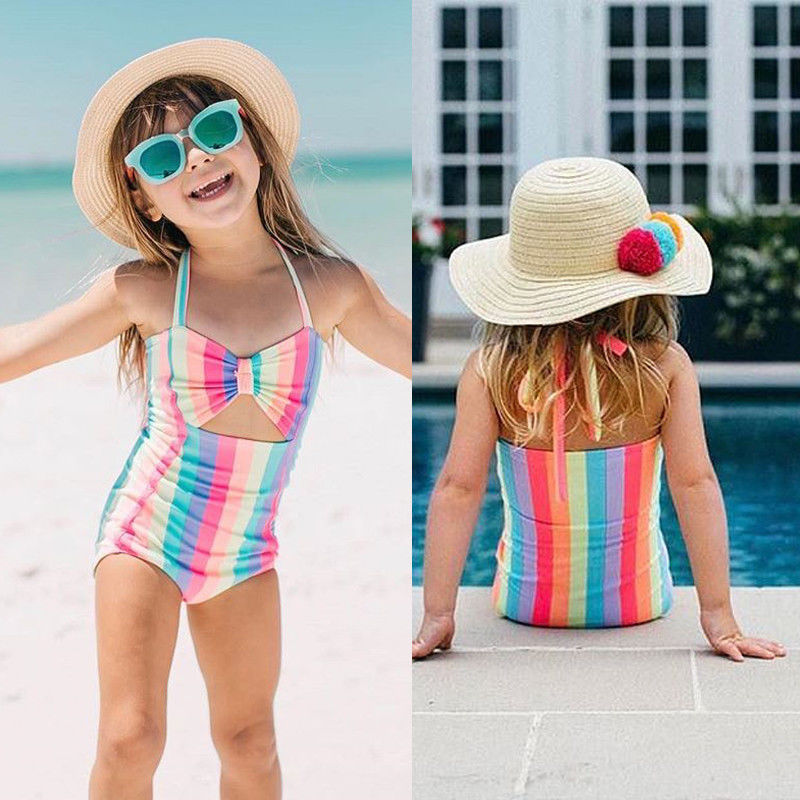 Sports & Entertainment New 2019 Toddler Kids Baby Girls Rainbow Swimwear Swimsuit Bathing Suit Beachwear Summer Cute Soft Beach Cute Adorable 1pcs At Any Cost