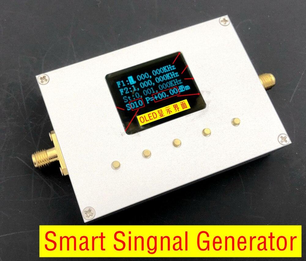 2018 Nodemcu 25 m-6000 mhz générateur intelligent portable Source de Signal Rf Oled affichage Usb + logiciel Amplitude réglable