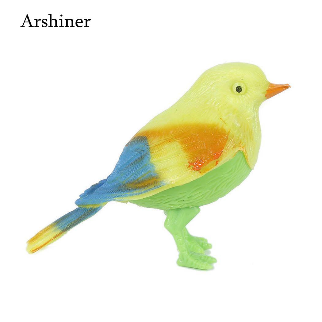 2018 Funny Electronic Pet Cage Decoration Toys Morning Bird Voice Control Music Bird Toy Simulation Cute Sing Song Bird Toy Doll Electronic Pets
