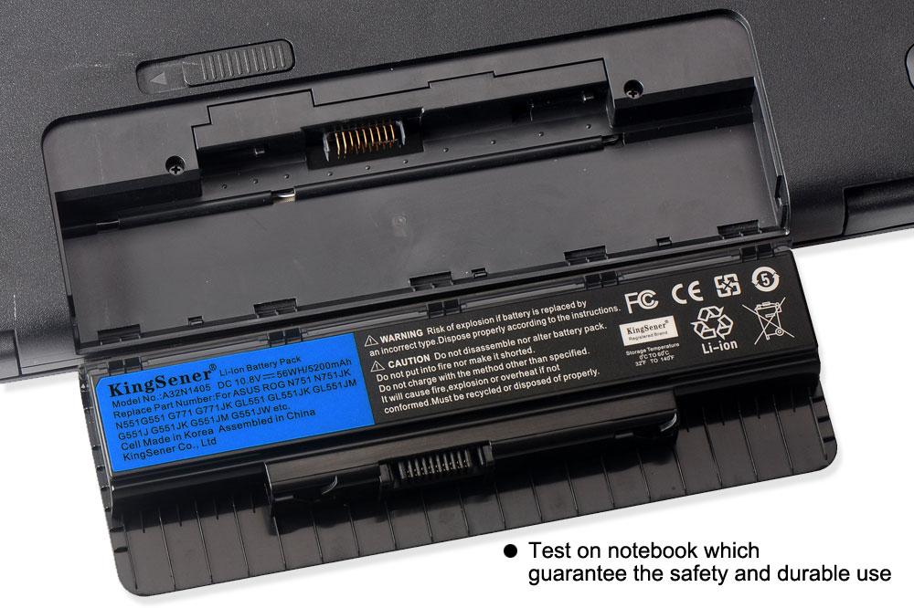 10,8 V 56WH A32N1405 nueva batería para ASUS ROG N551 N751 N751JK G551 G771 G771JK GL551 GL551JK GL551JM G551J G551JK g551JM G551JW - 6