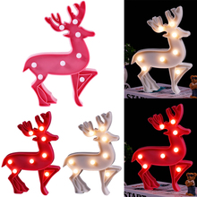 Christmas LED Night light Home Decor Light Table Lamp 3D Fashion Deer Romantic 25