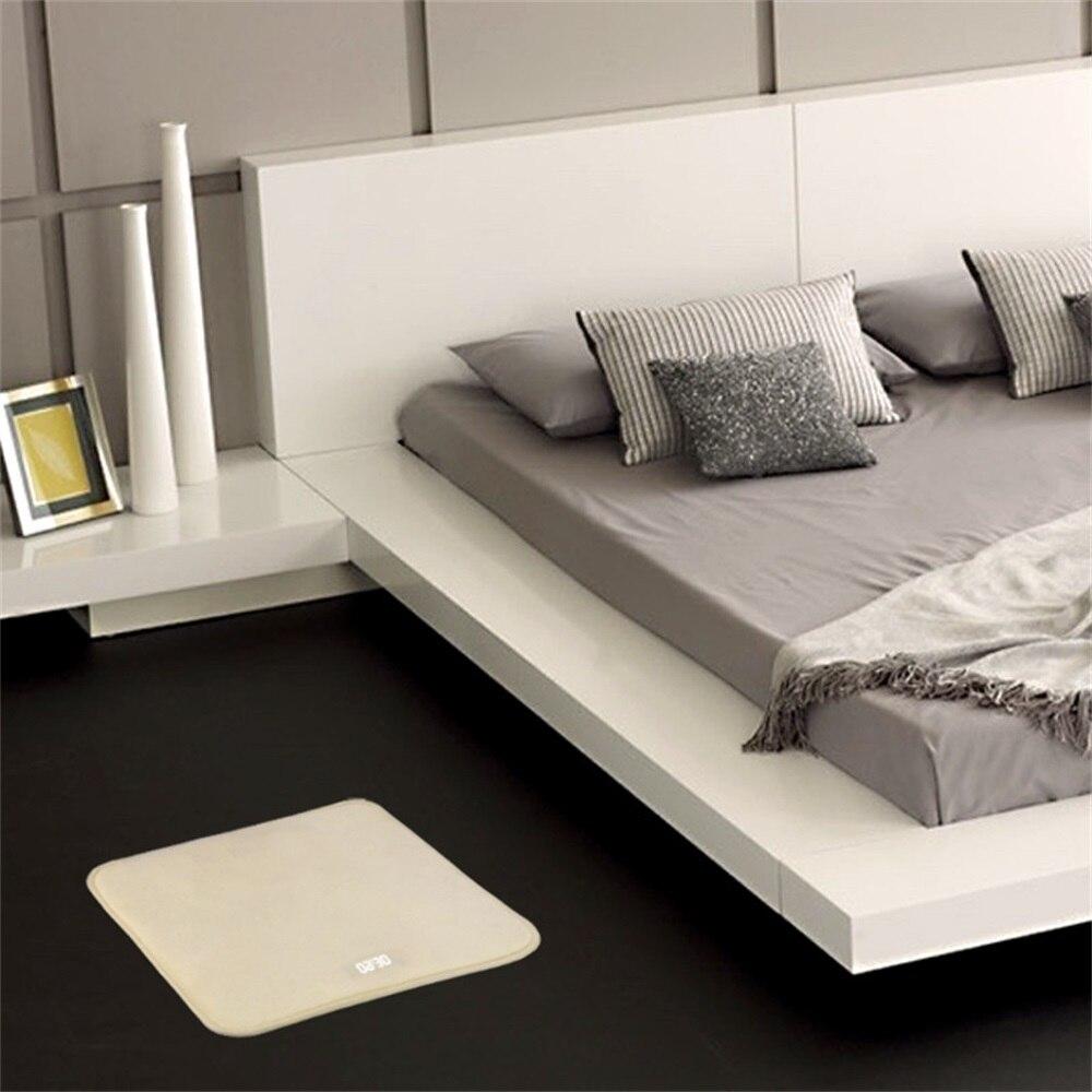 Réveil intelligent sensible à la pression électronique horloge numérique tapis chambre anti-dérapant tapis doux étudiant paresseux alarme cloche cadeaux