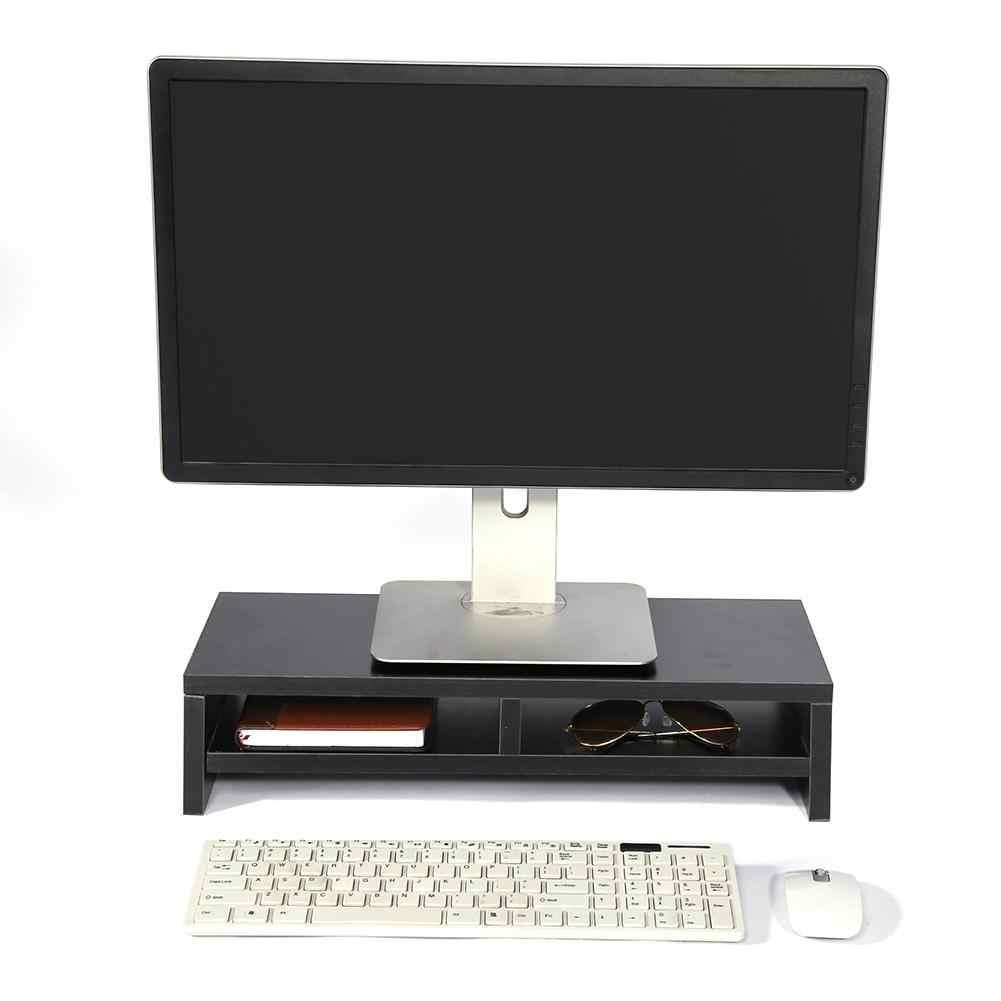 Desktop Supporto Del Monitor TV LCD Del Computer Portatile Schermo Del Computer Cremagliera Riser Scaffale Piattaforma Ufficio Scrivania Strumento Nero