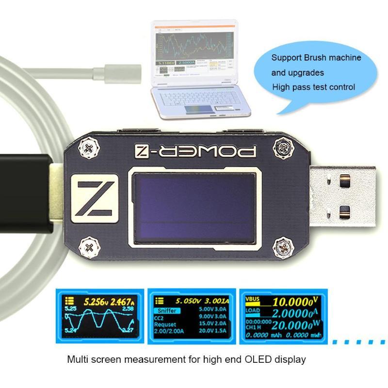 POWER Z USB PD Tester Voltage Current Tester Digital Voltmeter Amperimetro Ripple Dual Type C Meter Power Bank Detector M13
