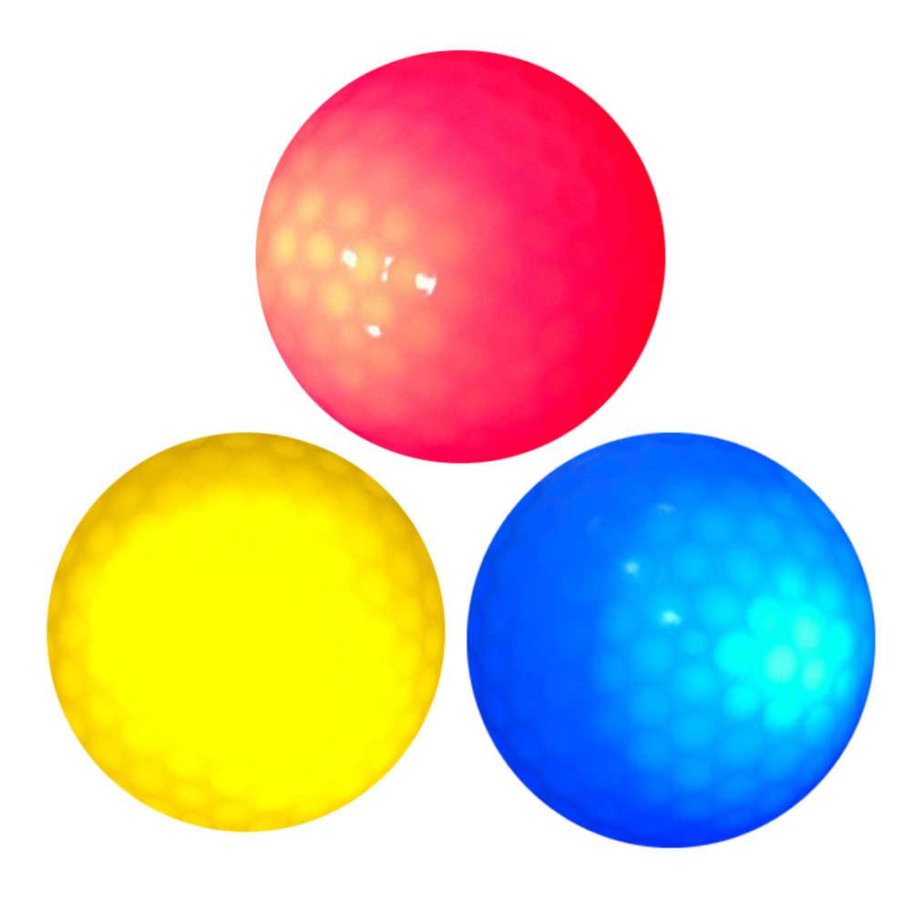6 pcs LED אור עד גולף כדור Ultra בהיר צבע מהבהב אלקטרוני גולף כדור גומי חומר חידוש גולף עבור הלילה אימון