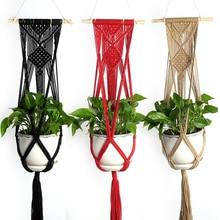 Hanging Art Plant Holder Plant Hanger Home Decoration Modern Braided Rope Basket Decors