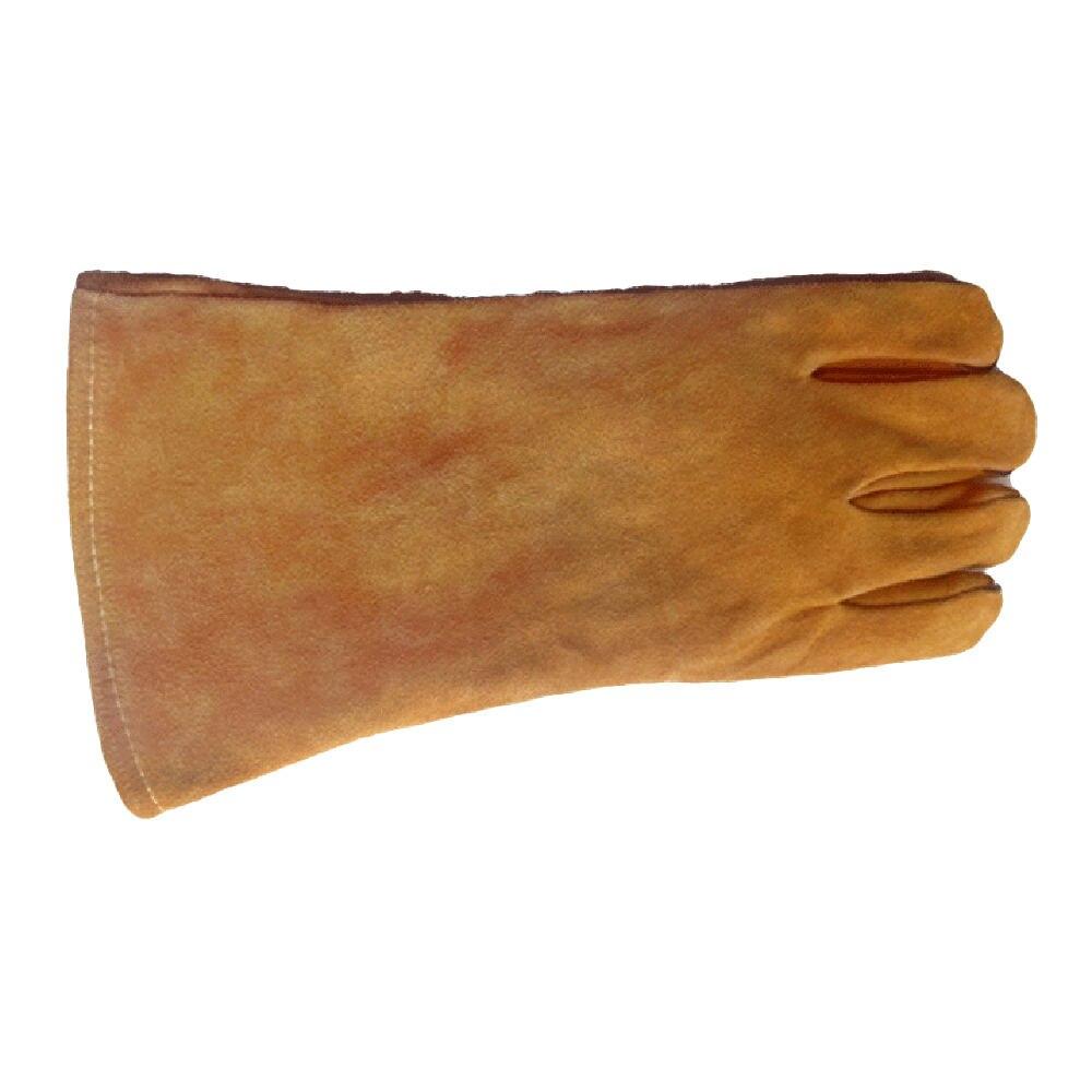 1 paar/satz Feuerfeste Langlebig Rindsleder Schweißer Handschuhe Anti-Wärme Arbeit Sicherheit Handschuhe Für Schweißen Metall Hand Werkzeuge Schutzhülle heißer