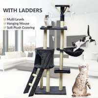 Новый Кот восхождение рамки Когтеточка для кошек дерево скребок полюс мебель тренажерный зал дом игрушка для прыжков кошек на платформе 50*35