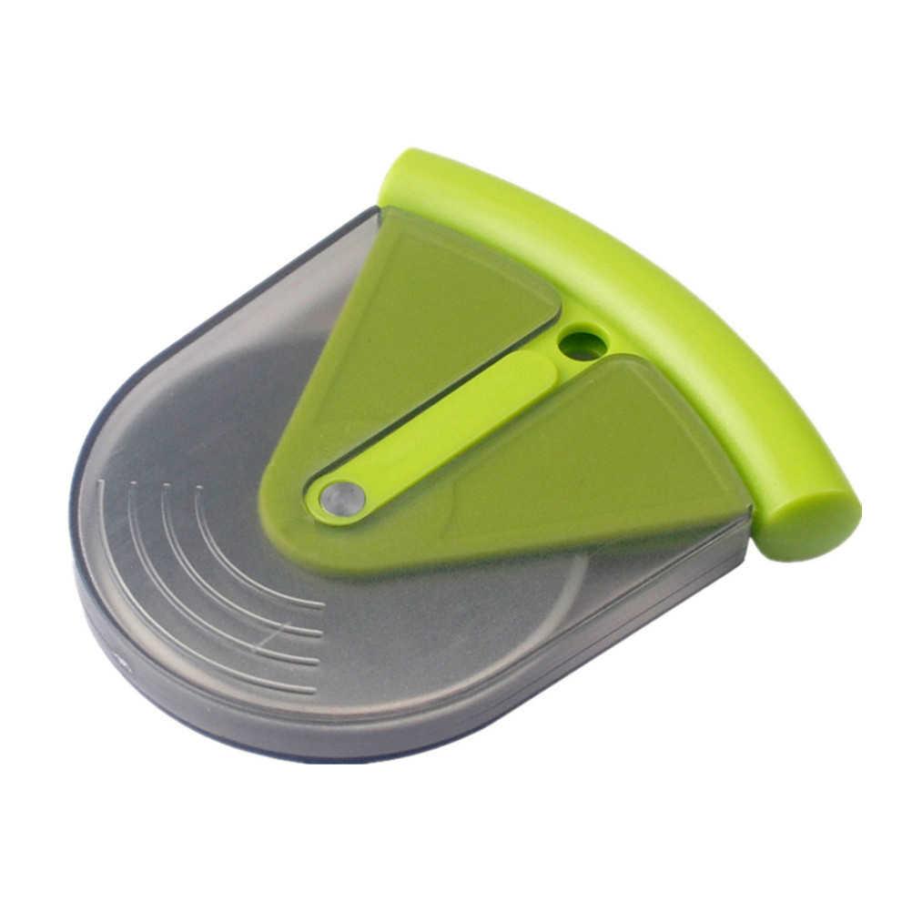 Kecil Stainless Steel Pizza Wheel Cutter Slicer Pisau dengan ABS Penutup Dapur Aid Pie Kue Alat
