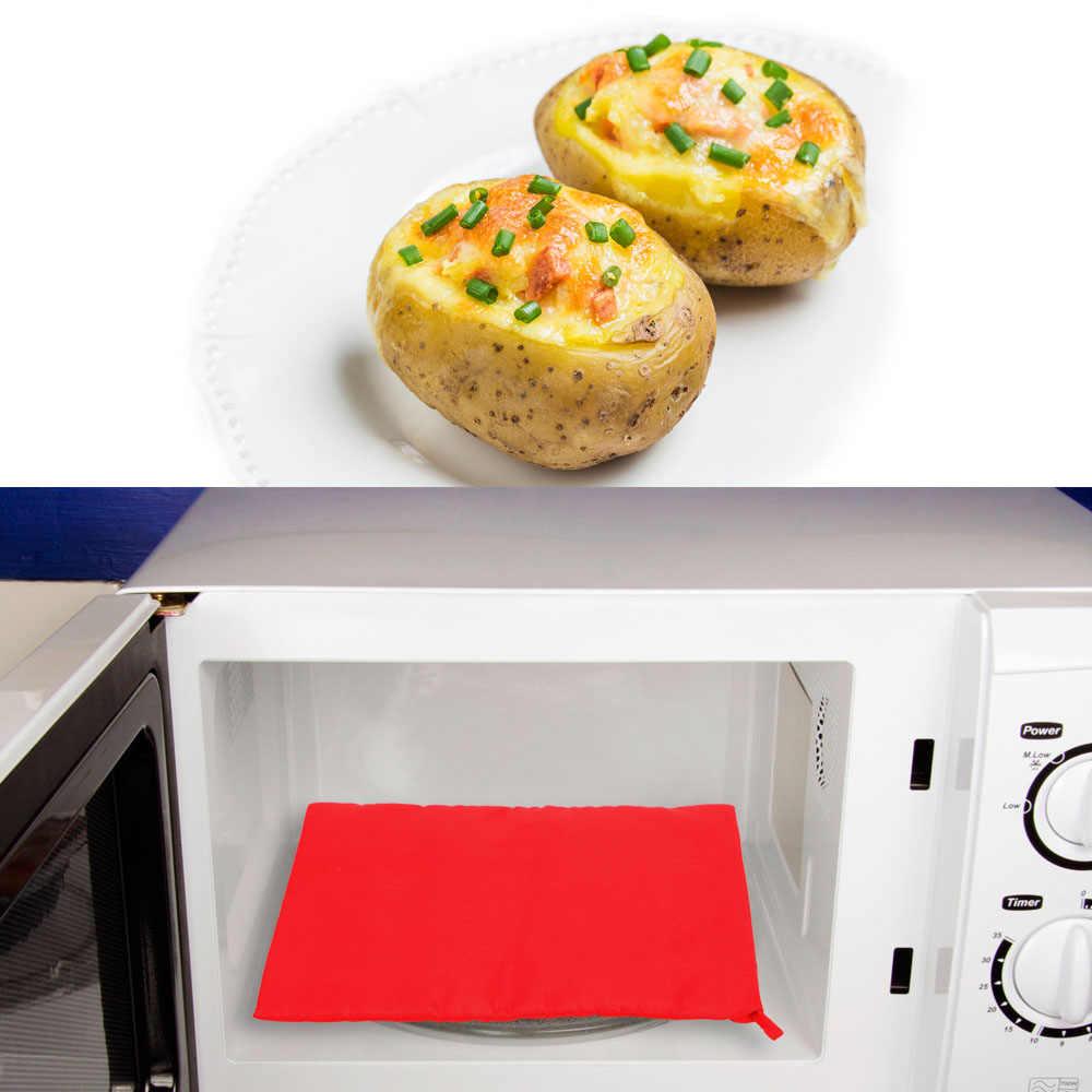 قابل للغسل طباخ حقيبة الميكروويف الخبز البطاطس حقيبة سريعة سريعة خبز البطاطس الأرز جيب سهلة لطهي البخار جيب