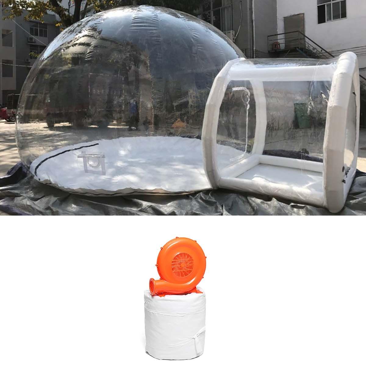 3/4/5 m 10/13/16ft Camping en plein Air tente à bulles gonflable grande maison bricolage dôme Camping cabine Lodge bulle d'air tente transparente