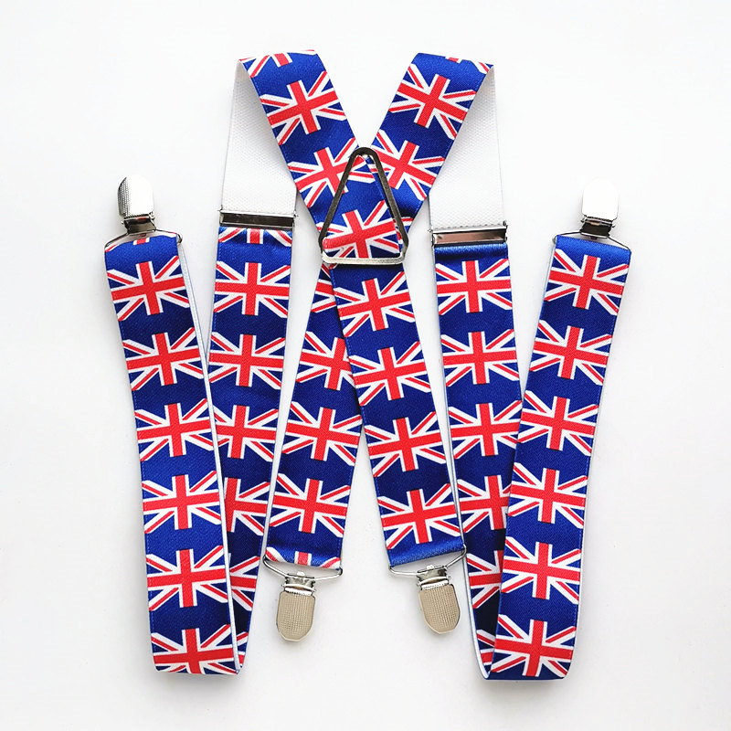 140cm Length Flag Suspender Men New Fashion H Back Pants Stay Braces Braces Unisex Adult Children Women Accessories BD045