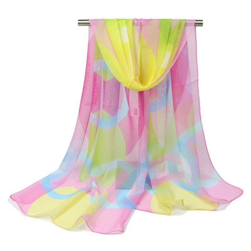 Spring Summer Retro   Scarf   Multicolor   Scarf   Stripe Design Print Kerchief Autumn Winter Woman Neck Shawl   Wraps   Echarpe