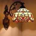 Витражные Стеклянные Настенные светильники лампа в стиле барокко Настенные светильники бра для гостиной зеркало передняя лампа прикроват...