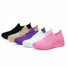 Women Vulcanize Shoes Mesh Outdoor Trainers Fitness Sports Running Casual Sneakers Ladies Pink Shoe