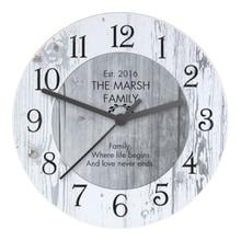Reloj de pared vintage reloj de esfera de madera Shabby Chic gran cocina de madera Reloj de pared nueva decoración del hogar