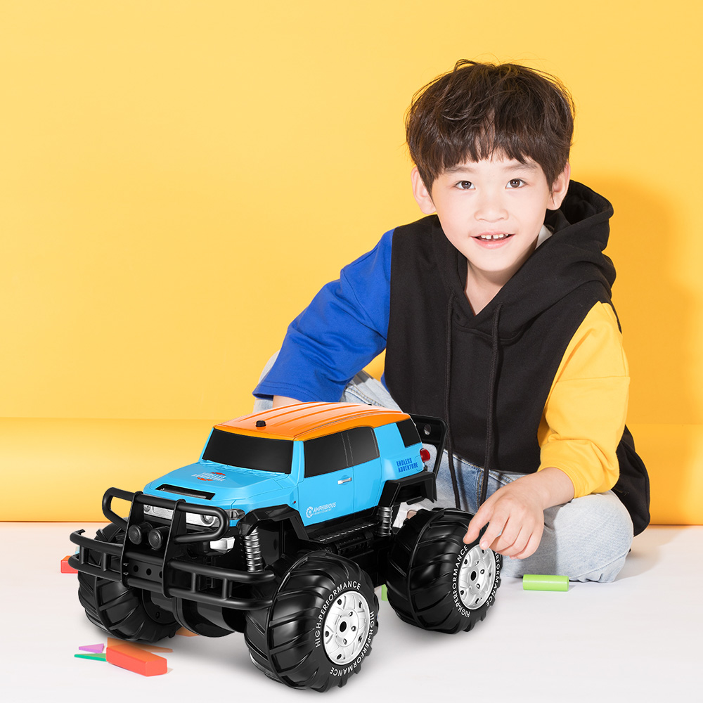 все цены на YED 1601 4WD Off-Road RC Car High Speed All-Terrain Amphibious Dirt Bike Monster Truck Rechargeable Toy For Kids Gift
