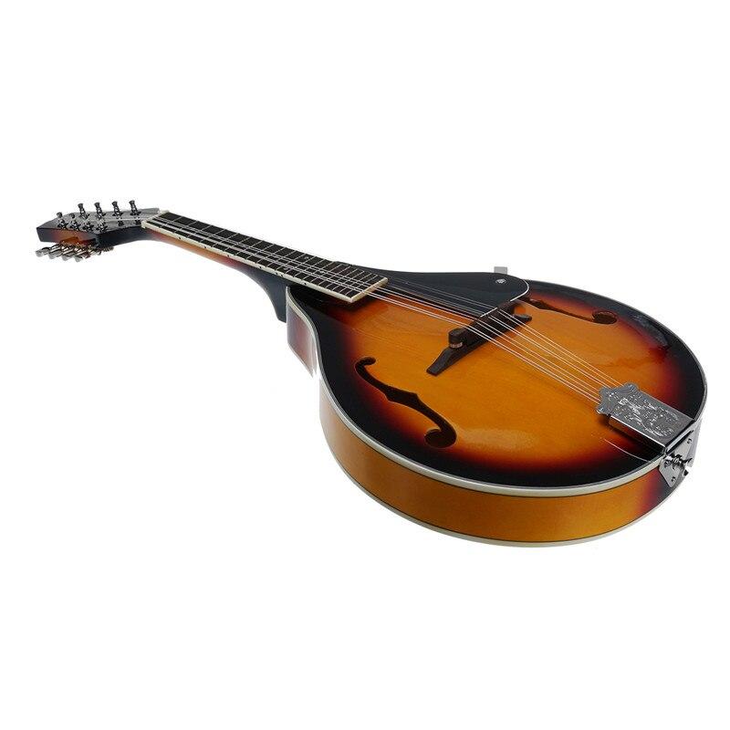 SENRHY coucher de soleil couleur palissandre 8 cordes F trou guitare basse électrique 20 Fret ukulélé pour les amateurs d'instruments à cordes musicales chaud - 3