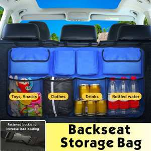 Car Trunk Organizer Backseat Storage Bag Hanging Seat Net Oxford Capacity Tool Box