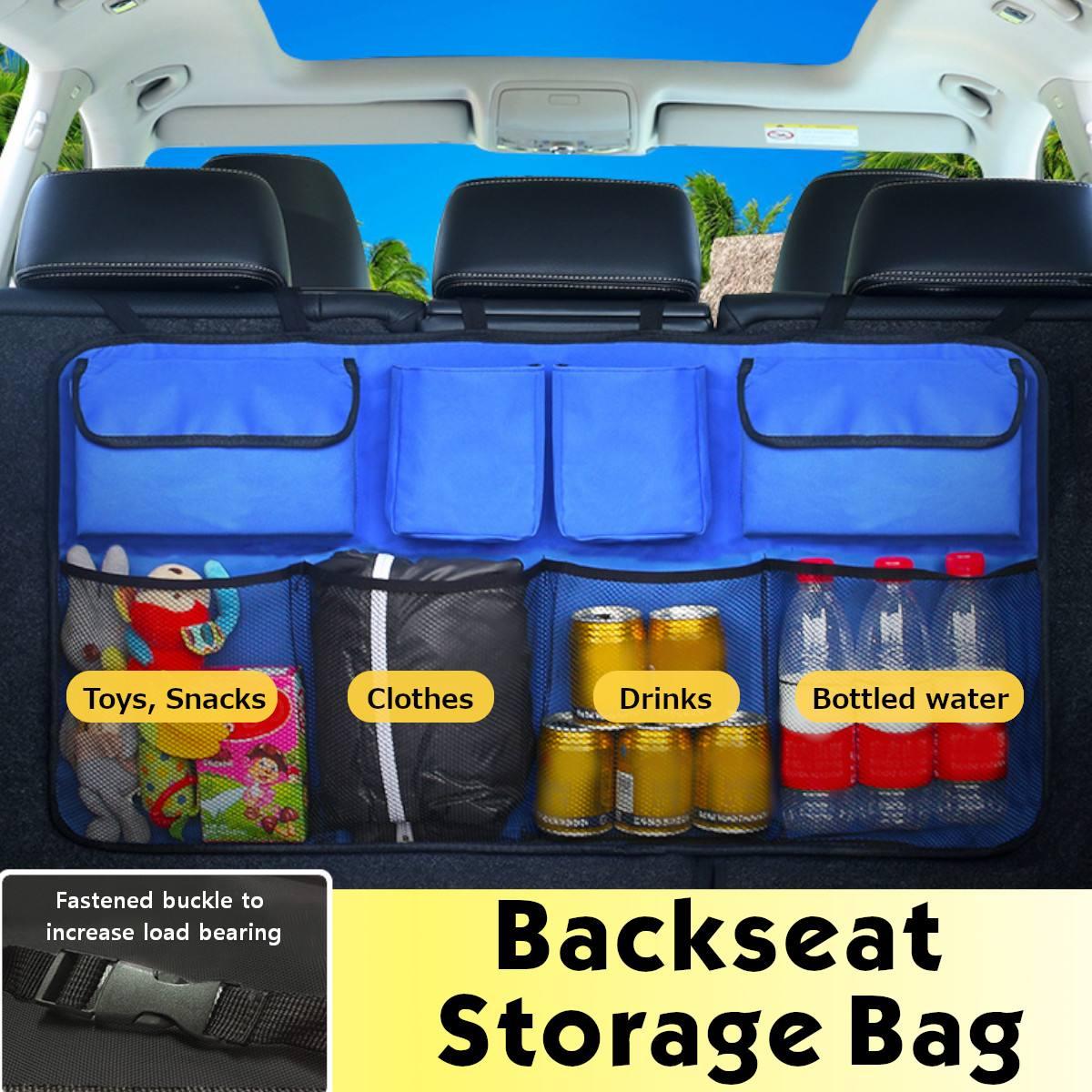 Auto Trunk Organizer Rücksitz Lagerung Tasche Net Oxford Kapazität Werkzeug Box Hängen Sitz Zurück Organisatoren Verstauen Aufräumen