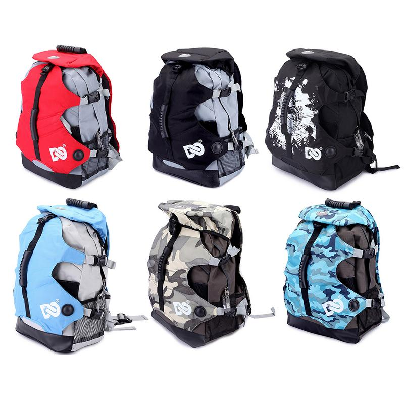 Fashion Camouflage Roller Skates Bag 20-35L Canvas Bag Skating Accessories Roller Bag Ice Skates Backpack Outdoor Sport Supplies