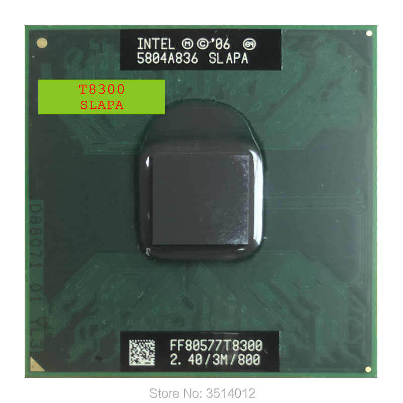 Intel Core 2 Duo T8300 SLAPA SLAYQ 2.4 GHz Dual-Core Dual-Thread di CPU Processore 3M 35W Socket P