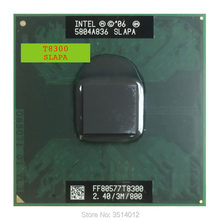 Processador intel, intel core duo 2 t8300 slapa slayq 2.4 ghz dual-core processador cpu dual-thread 3m 35 tomada w