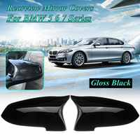 Pair Mirror Covers Left Right Side Rearview Mirror Cover Cap For BMW 5 6 7 Series F10 F18 F11 F06 F07 F12 F13 F01 2014 2015 2016