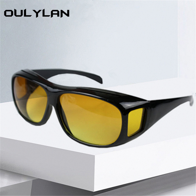 0a0bd5ce44 US $3.01 |Oulylan HD Vision Glasses Men Driver Safety HQ Night Driving  Glasses Women Goggles Anti Glare UV 400 Protective Eyewear-in Sunglasses  from ...