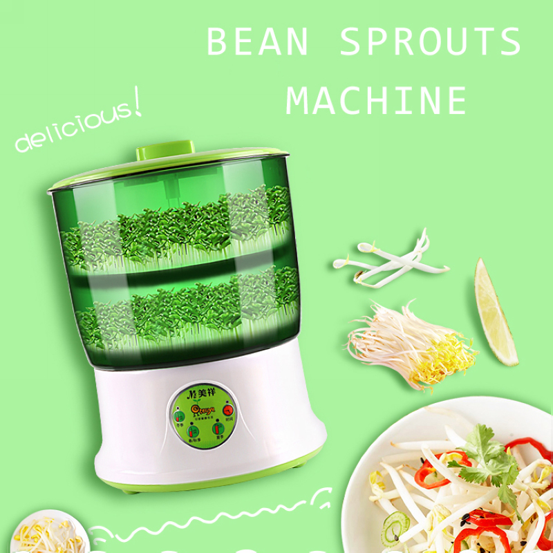 Bean Sprout Machine 110V Intelligence Home Use Large Capacity Automatic Bean Sprouts Machine EU/US PlugBean Sprout Machine 110V Intelligence Home Use Large Capacity Automatic Bean Sprouts Machine EU/US Plug