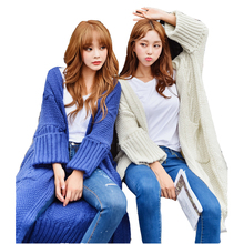 New Arrivals Autumn Winter Cardigan Sweater Women Bat Wing Sleeve Pllover Warm Loose
