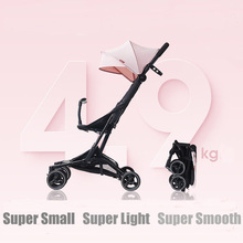 Baby Stroller Folding Car Small Lightweight Trolley Pram Four Season Use Mom Stroller Shock-resistance Four Wheels Stroller ultra light folding rainbow umbrella infant stroller car shock absorbers four wheels baby stroller baby carriage pram