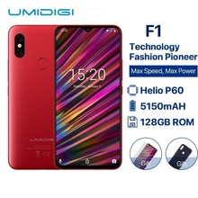 UMIDIGI F1 6.3″ Waterdrop FHD+ Display Helio P60 Android 9.0 4GB RAM 128GB ROM 5150mAh 18W Fast Charge Smartphone NFC 16MP Phone